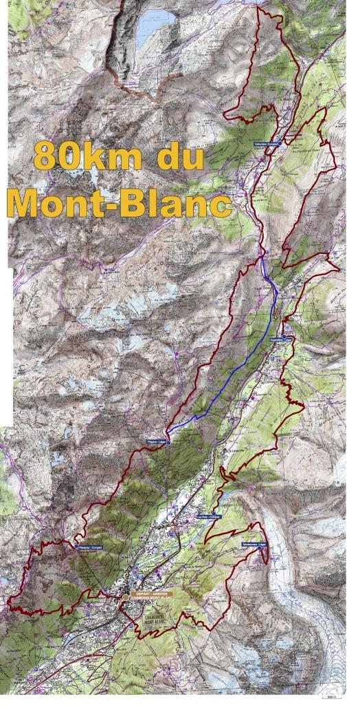 parcours repli du 80km du Mont Blanc