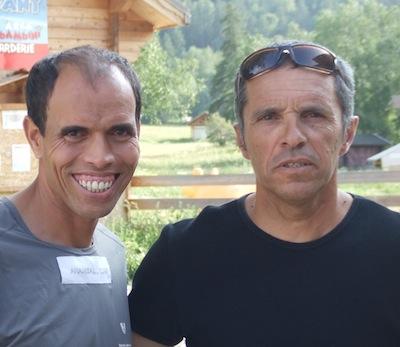 Mohamad Ahansal en compagnie de Patrick MICHEL