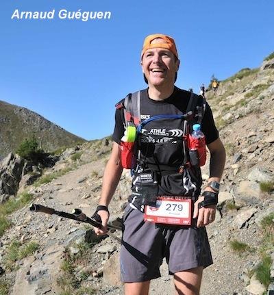 Arnaud sur le sentier du col des Lessines