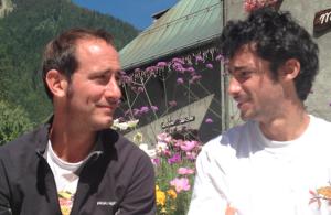 Le comédien et le sportif se sont croisés à Chamonix en août dernier