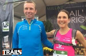 M. Meyssat et C. vainqueur du Marathon des Causses 2013