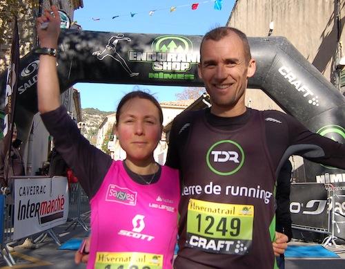 Hivernatrail 2013 - Céline Lafaye et Ludovic Pelle