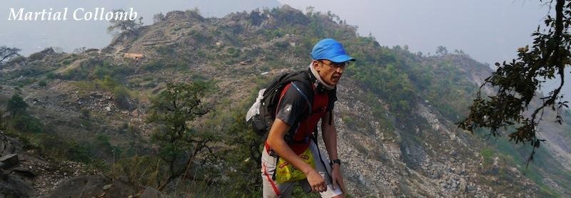 Martial Collomb au trail des 3 vallées 2013