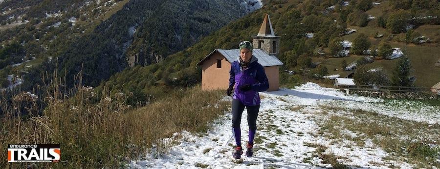 Maud Gobert au départ de la Saintelyon 2013