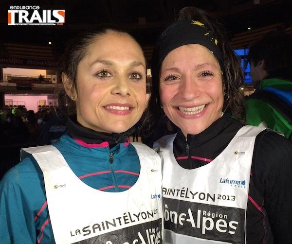Saintélyon 2013, Sylvaine Cussot & Laureline Gaussens