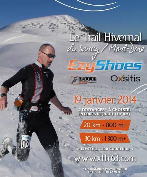 Affiche trail Hivernal sancy Mont Dore 2014