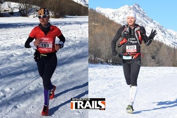 L. Pommeret et M. Gobert vainqueurs du trail blanc 2014
