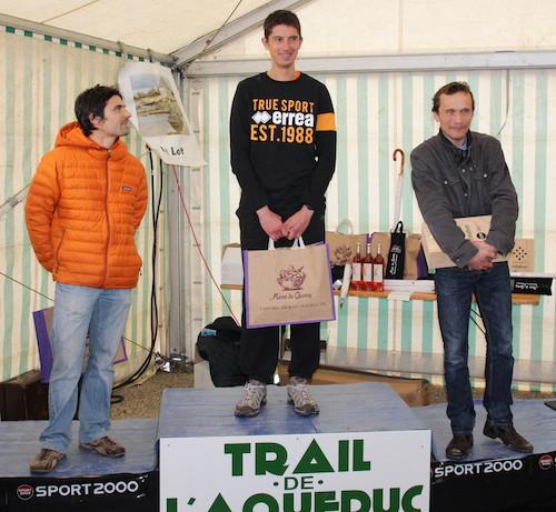 Podium hommes du Trail de l'Aqueduc 2014
