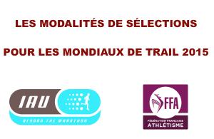 Modalités de sélections pour les mondiaux de trail 2015