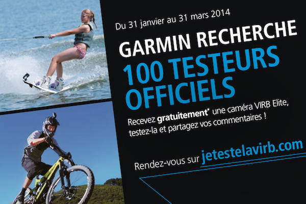Garmin cherche 100 testeurs
