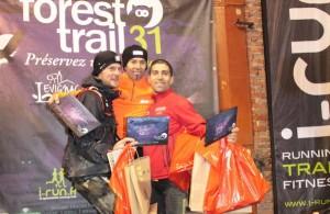 Forest Trail 2014, podium hommes du 40km