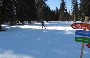 GTJ, Grande Traversée du Jura 2014, 185km en non stop par équipe de 2 et en ski de fond.