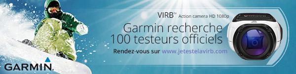 Garmin cherche 100 testeurs pour sa caméra Virb Elite