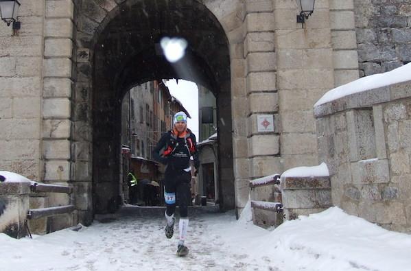 Ludo Pommeret vainqueur snow race Montgenevre 2014