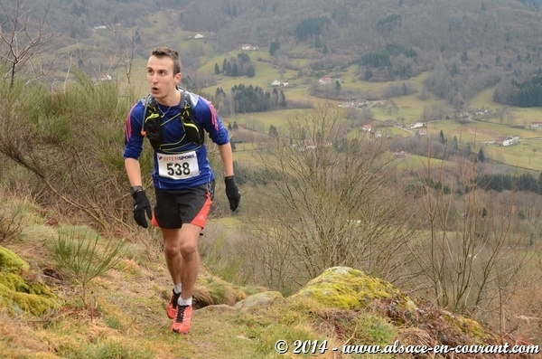 Sébastien Spehler, vainqueur du Trail hivernal de la Moselotte 2014
