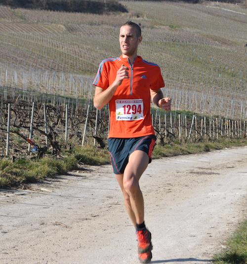 Benoit Verrier, vainqueur du Trail de la Montagne de reims 2014