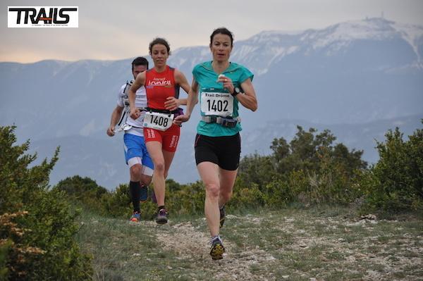 Anne Lise Rousset - Stephanie Duc sur le 38km du Trail Drôme 2014