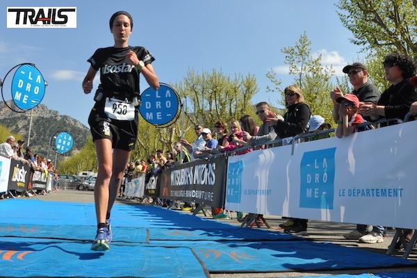Elisa Bollonjeon, vainqueur du 24km du Trail Drôme 2014