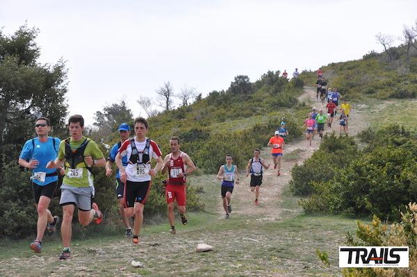 Trail Drôme - le peloton du 24km sur les hauteurs de Buis les Baronnies