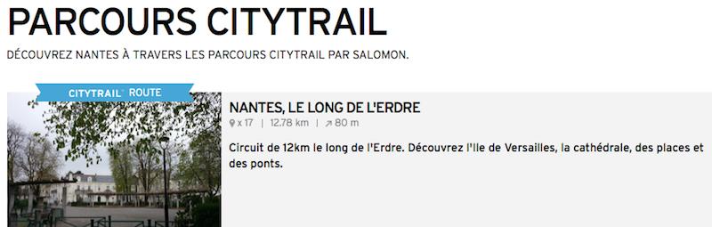 Parcours City Trail