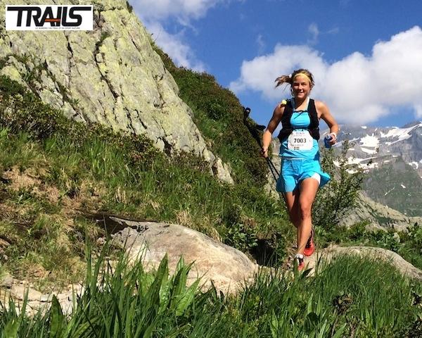 Emelie Forsberg, vaiqnueur du 80km du Mont-Blanc 2014