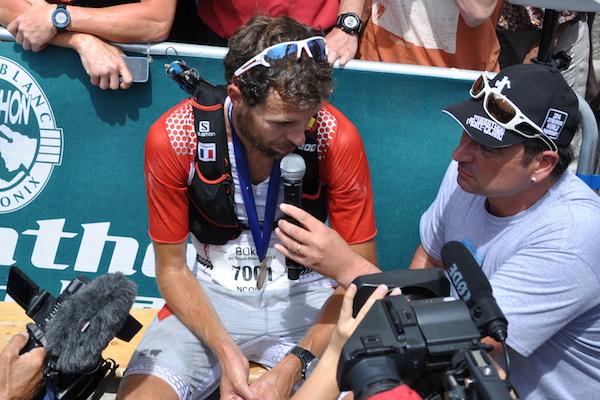 François D'Haene au départ du 80km du Mont Blanc
