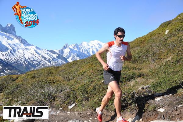 Kilian Jornet au marathon du Mont Blanc 2014