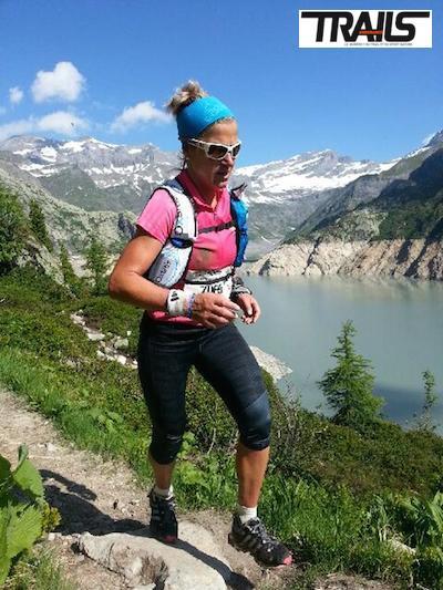 Maud Gobert, 4ème et première Française du 80km du Mont Blanc 2014