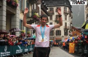 Kilian Jornet vainqueur du KV et du Marathon du Mont Blanc 2014