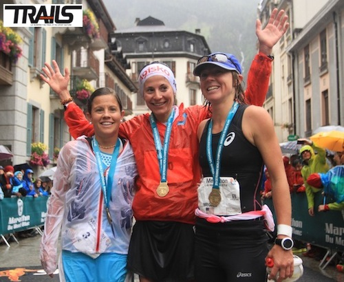 Podium dames Marathon du Mont-Blanc 2014