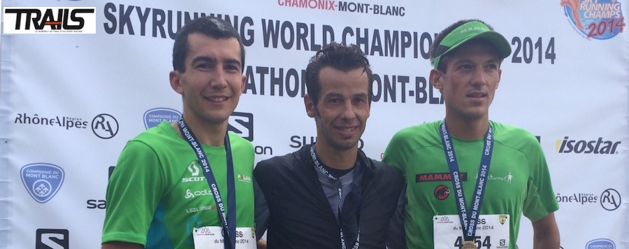 Podium hommes cross du Mont Blanc 2014