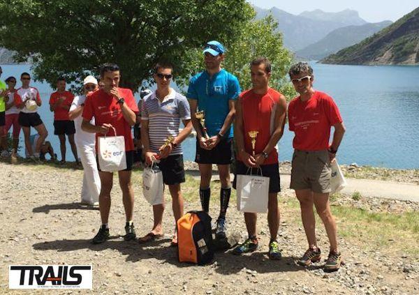 Trail EDF Rousset Serre-Ponçon 2014 - podium hommes du 31km