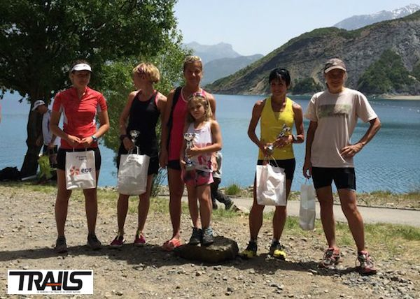 Trail EDF Rousset Serre-Ponçon 2014 - podium dames du 31km