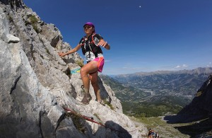 Sarah Vieuille 1er dame 42km Trail Ubaye Salomon photo Clement Barbeau
