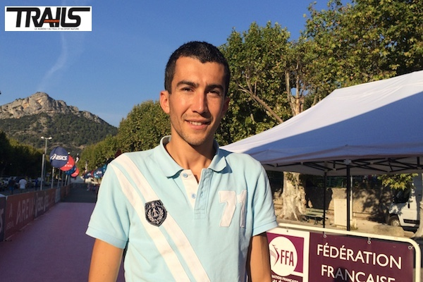 Arnaud Bonin au départ des Championnats de France de Trail court 2014