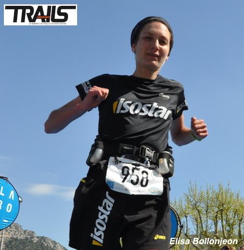 Elisa Bollonjeon au départ des Championnats de France de Trail Court 2014