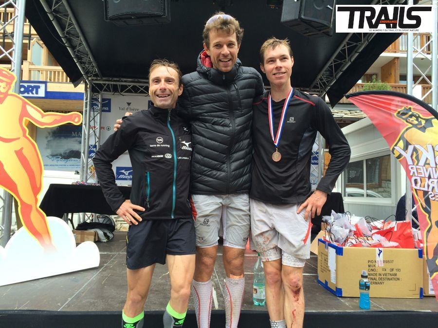 Ice Trail Tarentaise 2014 - Fred Bousseau - podium hommes