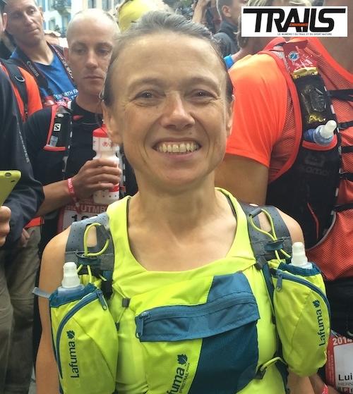 Nathalie Mauclair au départ du Grand Raid 2014