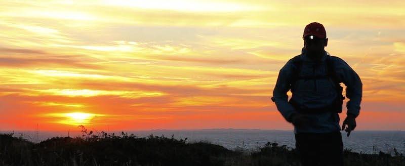 lever de soleil sur Belle Ile