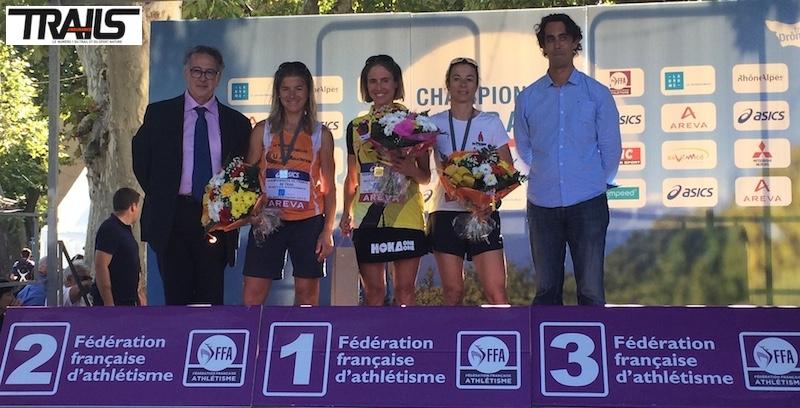 Podium femmes des Championnats de France de Trail 2014