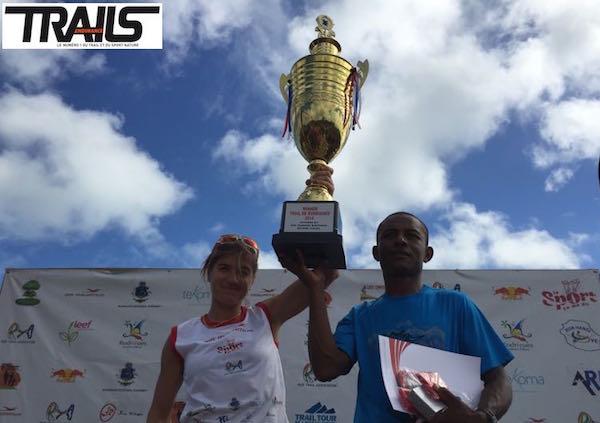 Trail de Rodrigues 2014 - podium du trail du Perroquet - Fred Bousseau
