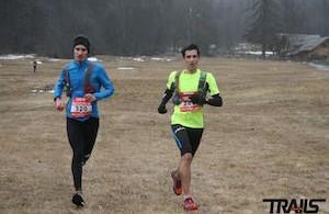 Trail Blanc Serre Chevalier - S. Ricard et Mika Pasero