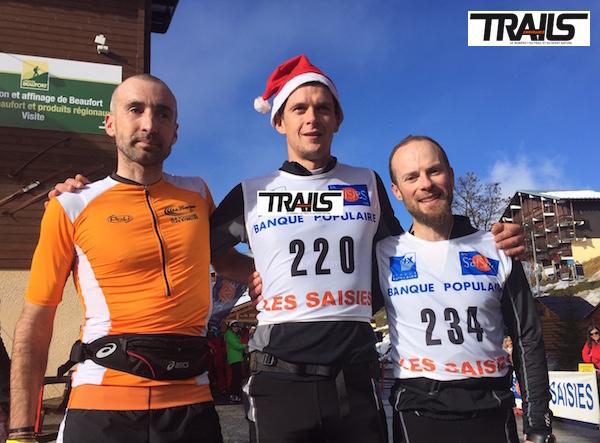 Trail de Noel aux Saisies - podium hommes 30km