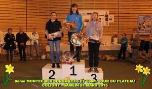 LA MONTEE DES JONQUILLES 2015 - podium femmes