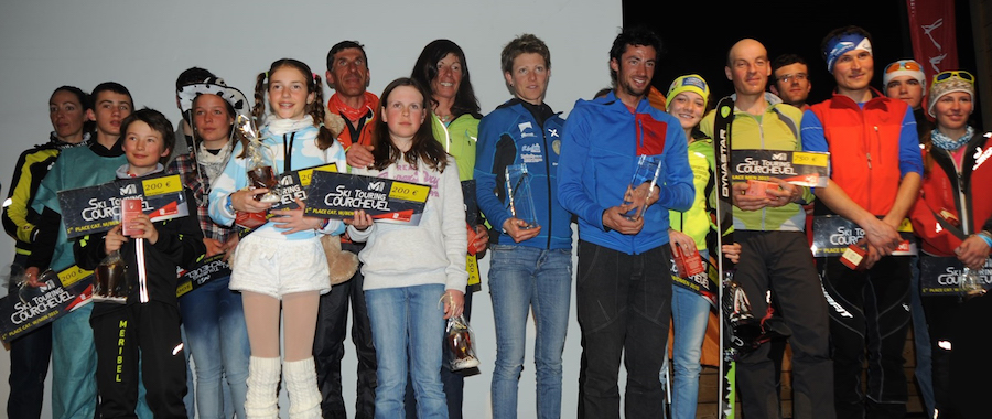 Laureats des Millet Ski Touring Courchevel 2014-2015.