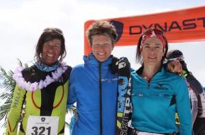 Podium femmes Dynastar X3 Courchevel 2015