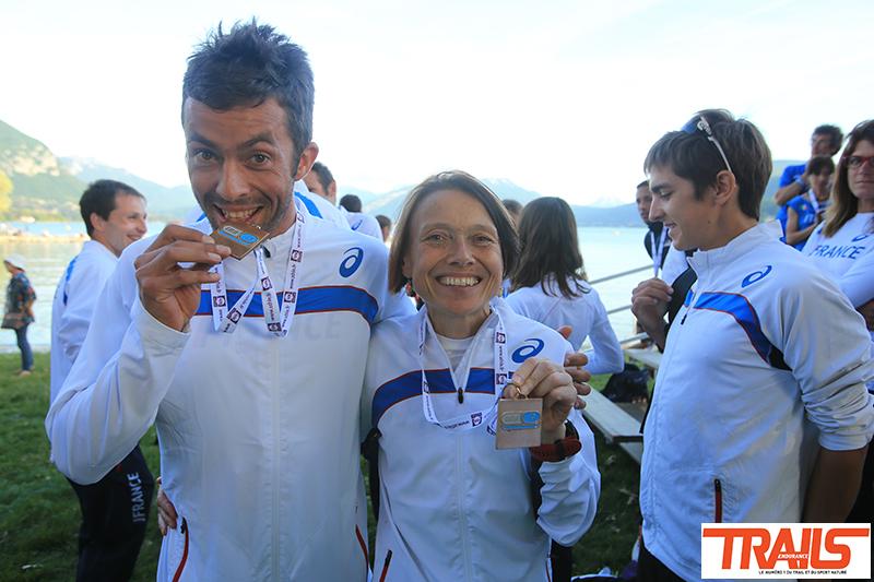 Nathalie Mauclair et Sylvain Court, Championnat du Monde de Trail Running 2015