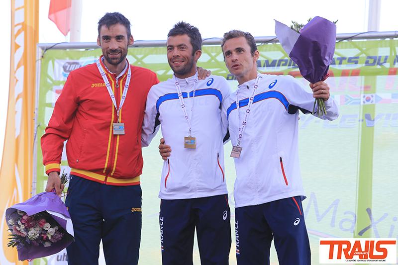podium hommes - championnat du Monde de Trail Running 2015