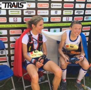 Caroline Chaverot et Nathalie Mauclair - Championnats du Monde de Trail 2015.JPG