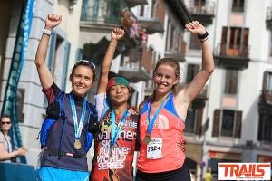 podium dames 80km du Mont-Blanc 2015